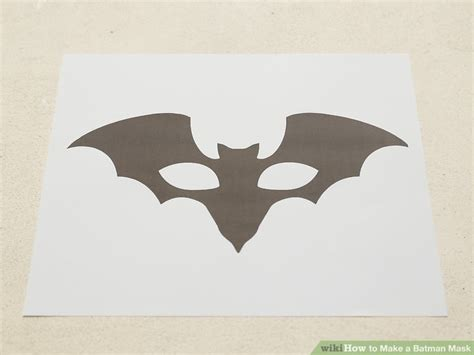 How To Make Paper Batman Mask - 4 ways to make a batman mask wikihow