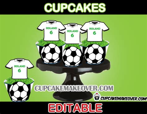 Candy Wall Stickers soccer party package instant download cupcakemakeover