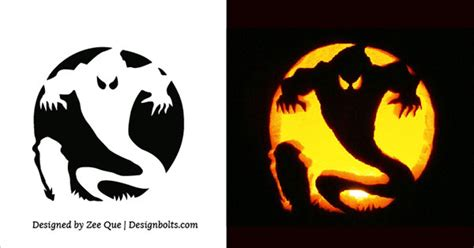 scary ghost pumpkin carving templates www pixshark com