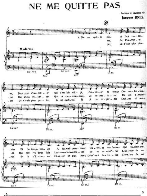 Tutorial Piano Ne Me Quitte Pas | jacques brel ne me quitte pas partition musicale