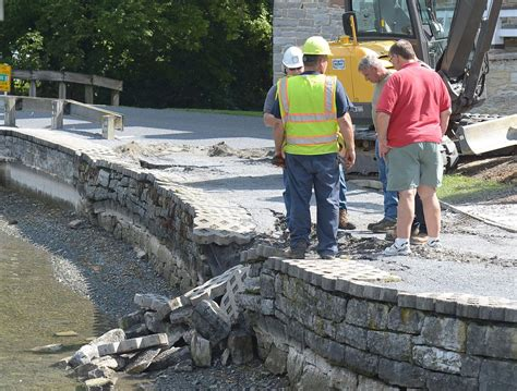 pa fish and boat commission jobs repair work at children s lake hits snag boiling springs