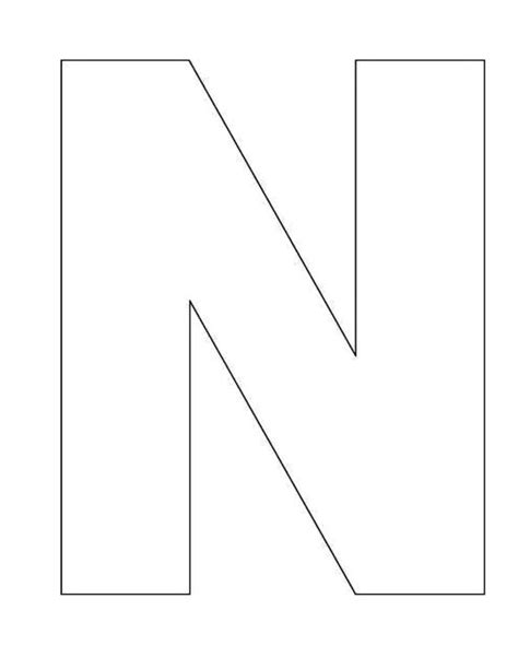 printable letter template for printable alphabet letter n template alphabet letter n