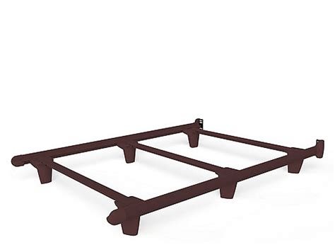 bed frame glides embrace full bed frame w glides brown brown raymour