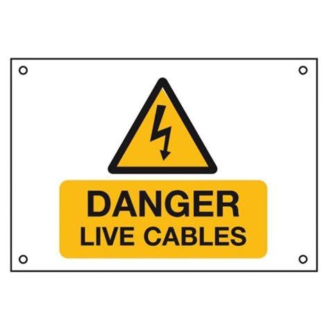 Danger Danger Cowok Size S rigid pvc labels 229 x 152mm quot danger live cables quot pack qty