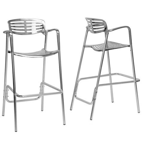 bar stool aluminum modern aluminum bar stools set of 2 in metal bar stools