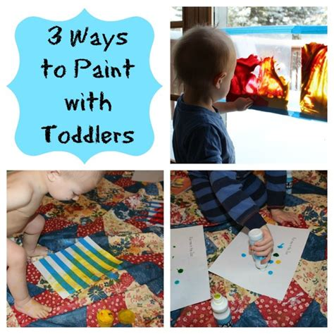 painting toddlers 3 easy ways to paint with toddlers teaching