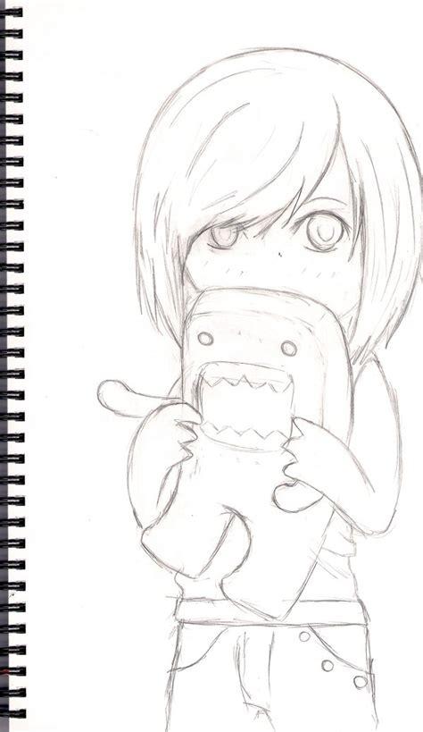 how to draw doodle domo sketch domo kun by ravyre on deviantart