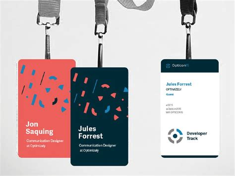 conference id card template branding opticon badges graphics and business cards