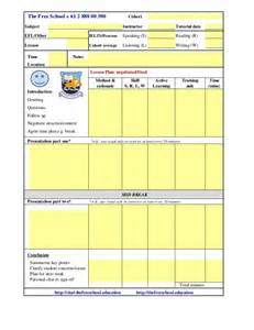 Esl Lesson Plan Templates by Tesol Esl Lesson Plan Template