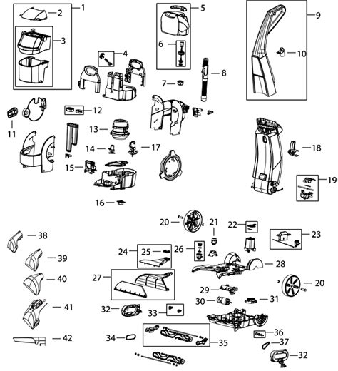 bissell proheat 2x parts diagram bissell 35k3 lift cleaner parts