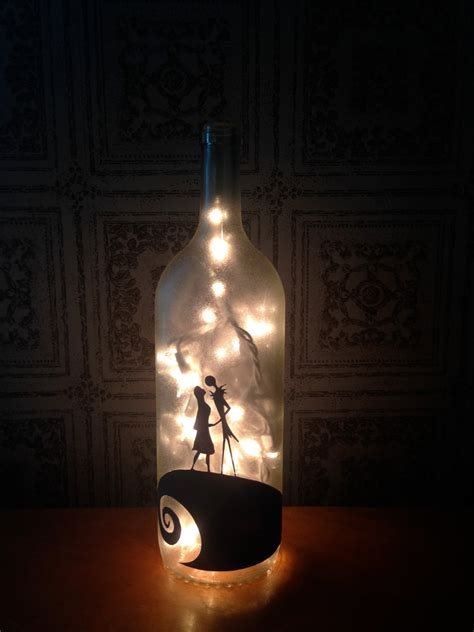 nightmare before christmas inspired wine bottle by