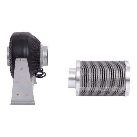 4 inch carbon filter fan combo homcom 4 inch carbon air filter and inline fan combo kit