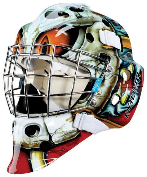 design goalie helmet maska bramkarska bauer nme3 malowana jr goalie masks
