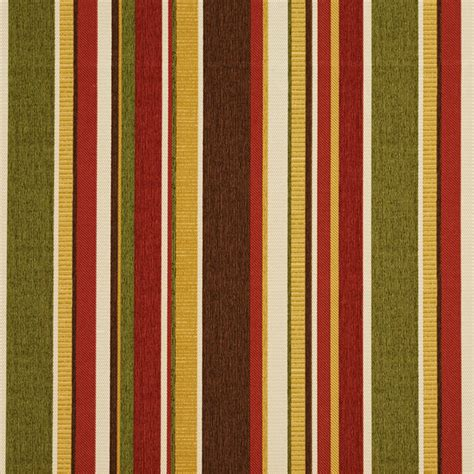 Upholstery Fabric Stripes green brown and gold stripes outdoor indoor
