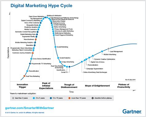 Smarter Technologies five key trends in gartner s 2015 digital marketing hype