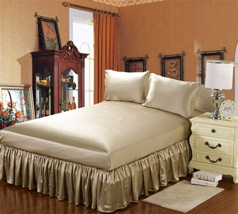 taupe bed skirt 19 momme silk bedskirt queen taupe bluespan