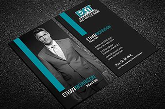 exit realty business card templates free shipping