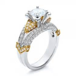 two tone gold and engagement ring vanna k 100273