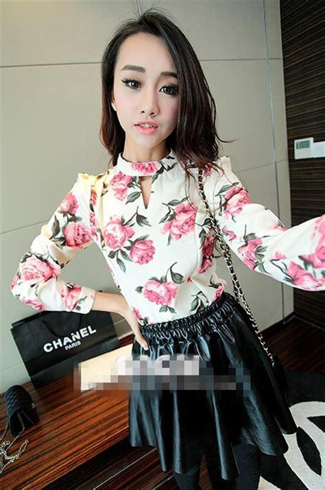 Atasan Wanita Sweater Motif Bango atasan wanita motif bunga modis model terbaru jual