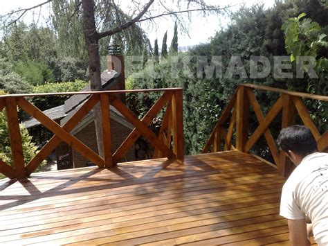 barandilla de madera exterior barandillas de madera para exterior