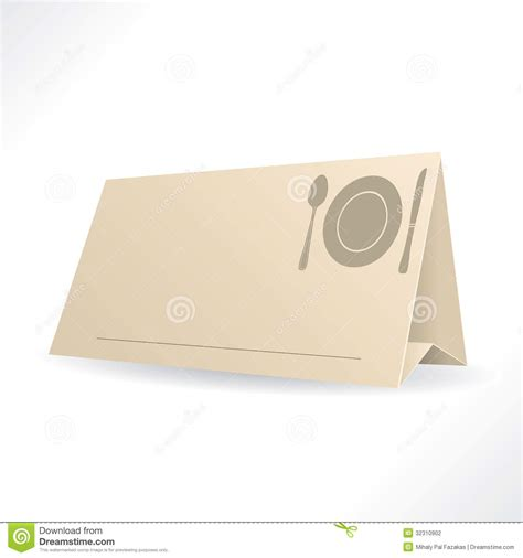 table reservation card template dinner reservation template stock photography image