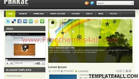 blogspot themes portfolio pharze business portfolio blogger template