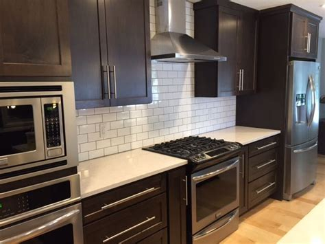 Which Color Subway Tile For Maple Cabinets And Granite - cabinets kitchen designs kitchen subway