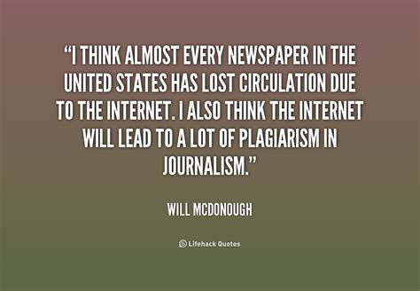 Journalism Quotes by Quotes About Newspapers Journalism Quotesgram