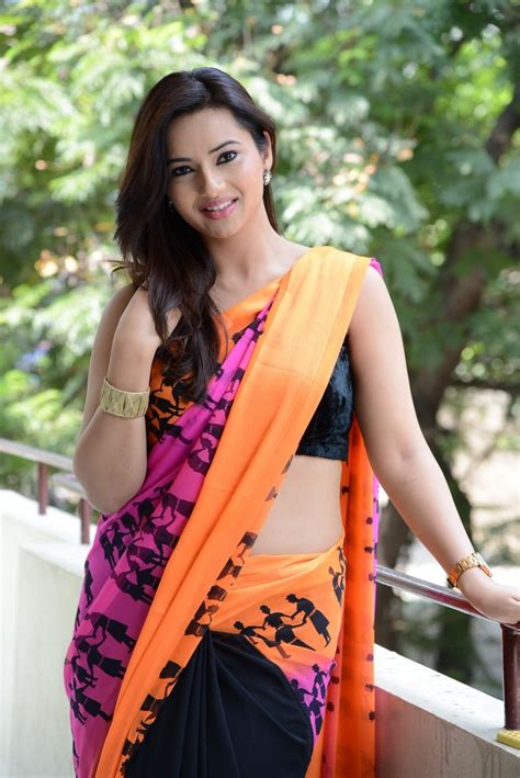 photos of heroine in saree actress isha chawla hot in saree images celebrity sarees
