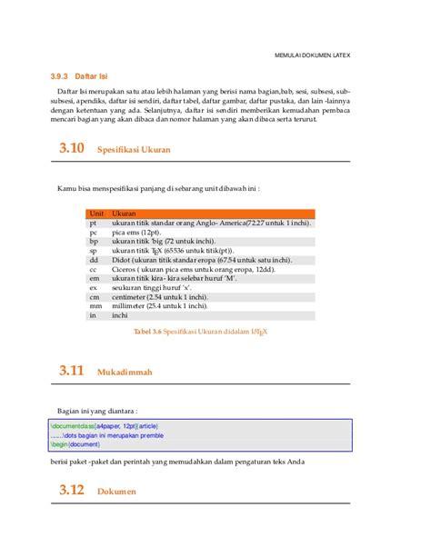 membuat daftar isi pada latex membuat dokumen latex edisi ke 33