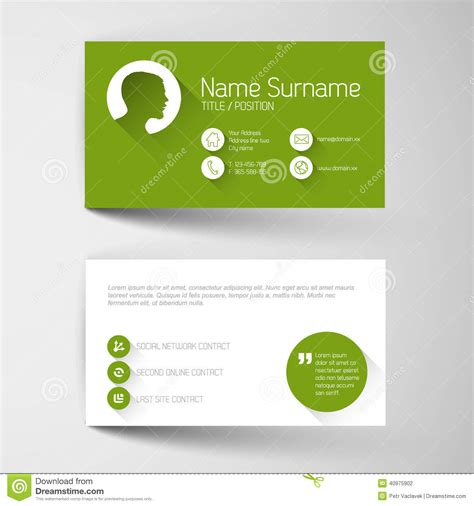 green card template green business card template vector