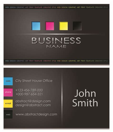 simple business card template free gorgeous simple business card templates vector free vector