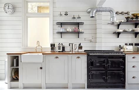 shiplap wood paneling in a classic kitchen remodel
