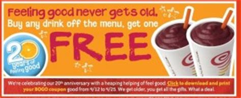 Jamba Juice Gift Card Costco - jamba juice buy one get one free my frugal adventures