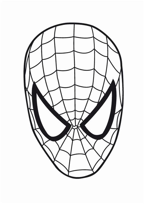 spiderman face template   clip art