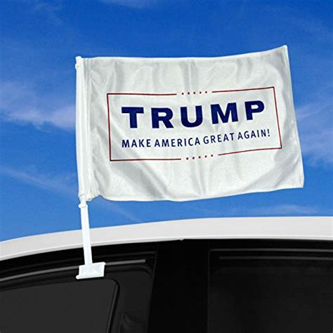 double sided car flag donald trump  president logo  american christian store