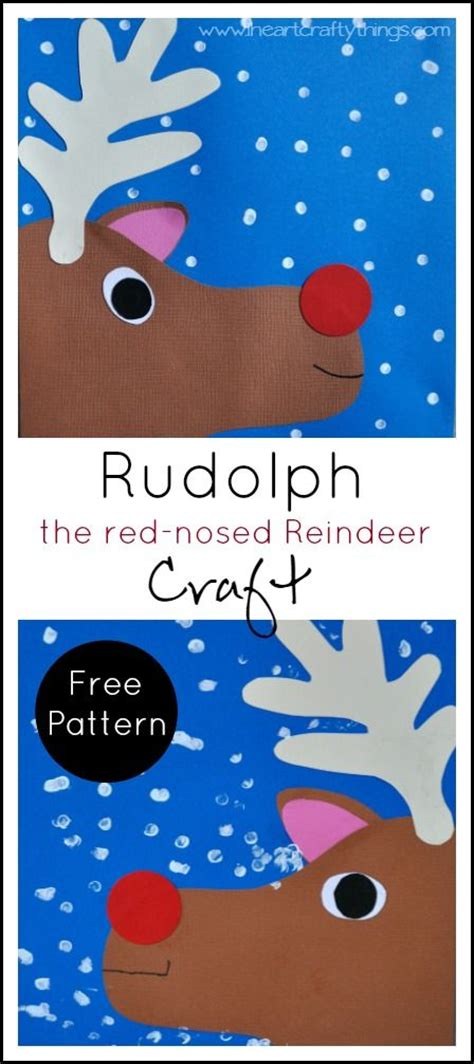 yoddler rudolph crafts craft make a rudolph the nosed reindeer craft out of paper and add dots of