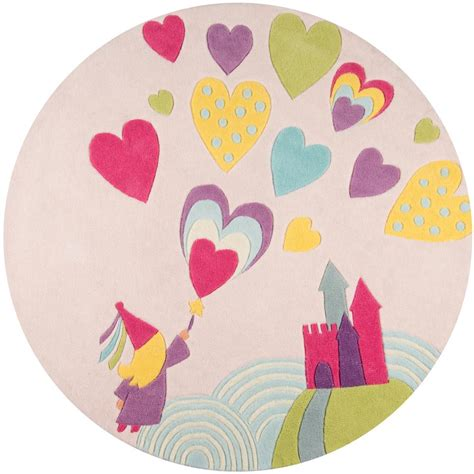Princess Area Rugs Momeni Lil Mo Whimsy Princess Castle Pink 5 Ft X 5 Ft Indoor Area Rug