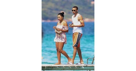 Ayesha and Stephen Curry in St. Tropez July 2016