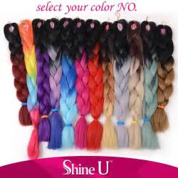 ombre braiding hair cheap hair synthetic braiding hair ombre color jumbo braid