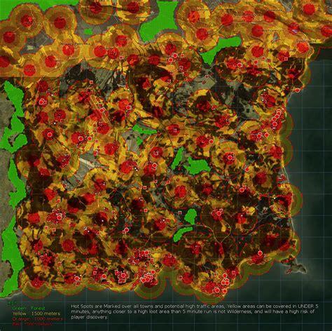 dayztv map wilderness chernarus map risk areas dayz tv