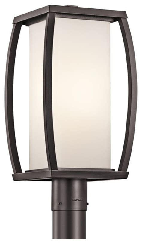 Contemporary Outdoor Post Lighting Contemporary Kichler Bowen 18 1 2 Quot High Bronze Outdoor Post Light Contemporary Outdoor