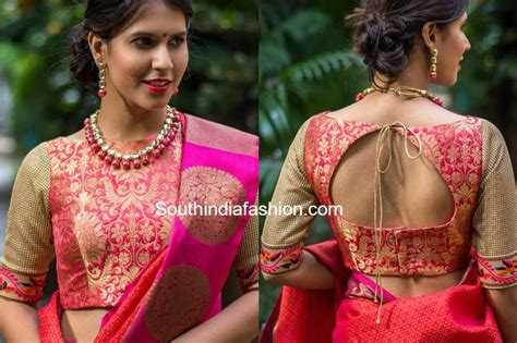 boat neck readymade blouses online 6 beautiful boat neck brocade blouse designs south india