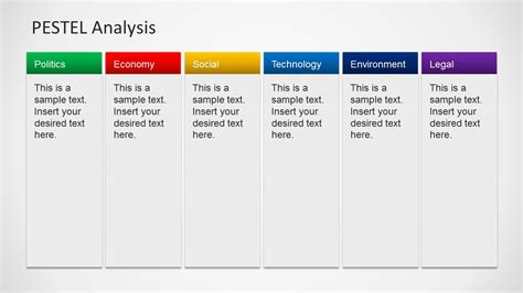 pest analysis template 6 columns slide design for powerpoint slidemodel