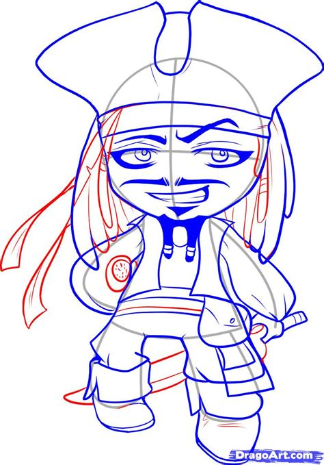 how to draw jack sparrow easy step by step characters pop culture how to draw chibi jack sparrow step by step chibis draw