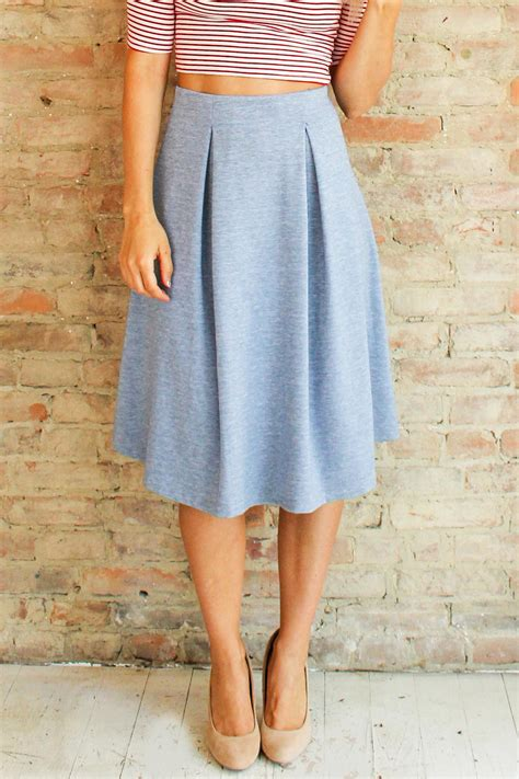 tres classic midi skirt from and glow ladylike style