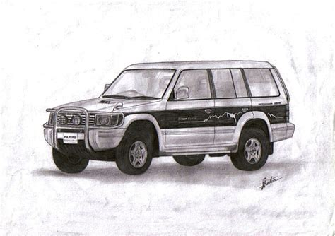 Kaos Travel Moskow mitsubishi pajero drawing by shak sam