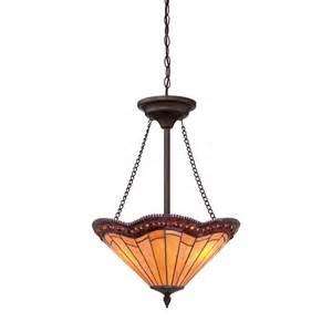Hanging Plug In Chandelier Shop Allen Roth 18 In W Antique Bronze Tiffany Style