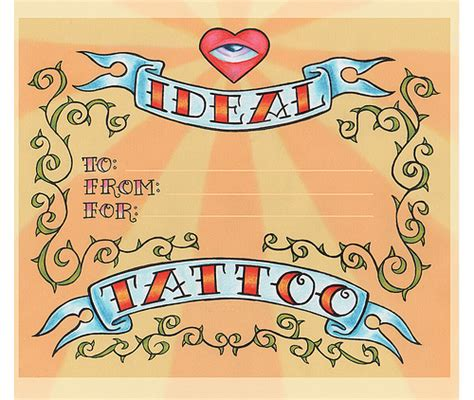 tattoo gift certificate ideal gift certificate flickr photo