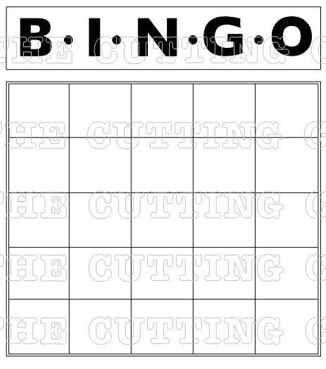 free printable bingo card template blank bingo grids to print the bingo card also